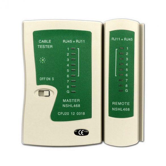 Hálózati UTP kábel - telefonkábel teszter - RJ45 - RJ11