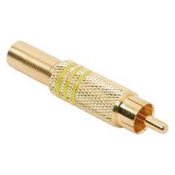 Globiz RCA dugó aranyozott, sárga