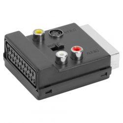 Globiz Scart dugó-hüvely 3RCA/Svideo adapter