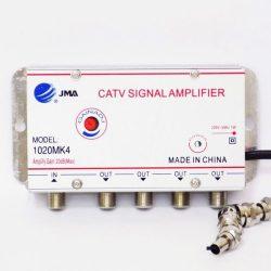 JMA CATV antennajel erősítő 20dB max. 4 kimenettel