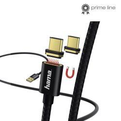 Hama adatkábel mágneses csatlakozóval, USB-C