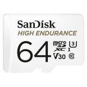 Sandisk High Endurance Card 64GB MicroSDXC U3, V30 100/40MB/s memória kártya