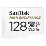 Sandisk High Endurance Card 128GB MicroSDXC U3, V30 100/40MB/s memória kártya