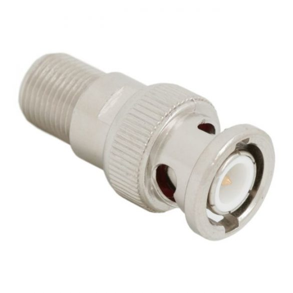 BNC dugó - F aljzat adapter