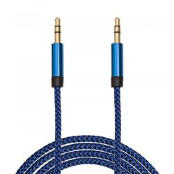 Delight AUX kábel szövet bevonattal, 1m