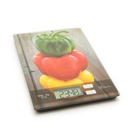 Vog &Arths konyhai mérleg 5kg/1g, paprika mintázatú