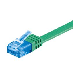 Goobay 96319 UTP cat6 lapos Patch kábel, 2m, zöld