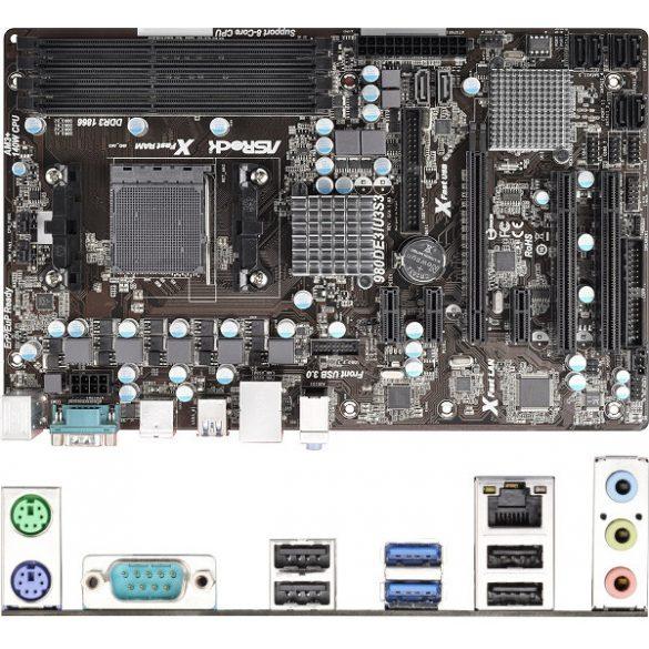 AsRock 980DE3/U3S3 AMD 760G AM3+ ATX alaplap