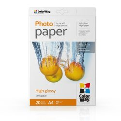 COLORWAY Fotópapír, magasfényű (high glossy), 180 g/m2, 10x15, 100 lap