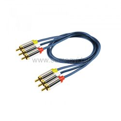 Home A4-1M 3 RCA - 3 RCA kábel, 1m
