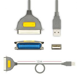 Axagon ADP-1P36 USB-LPT 36pin nyomtató kábel 1,5m