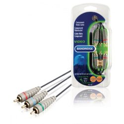 Bandridge BVL3305 komponens videó kábel, 5m