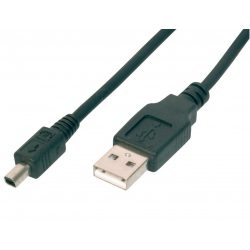 HQ USB 2.0 kábel, USB dugó - mini USB 4pin Mitsumi dugó, 1,8m