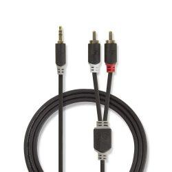 Nedis CABW22200AT30 3,5mm jack - 2RCA kábel, 3m