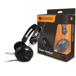 Canyon USB headset + mikrofon CNE-CHSU1B