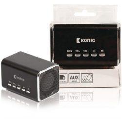 König CSPSP100BL mini MP3/MicroSD/AUX sztereó lejátszó