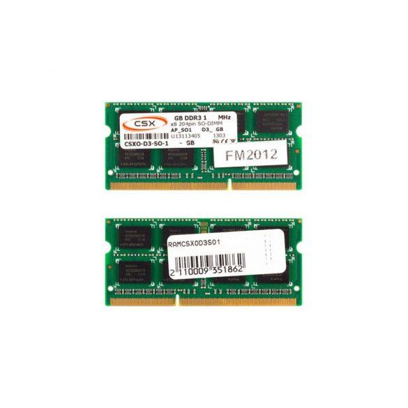 CSXO-D3-SO-1333-2GB 2GB 1333MHz DDR3 notebook memória