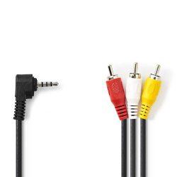 Nedis CVGP22400BK20 Composit-video 3,5mm Jack-3RCA kábel 2m