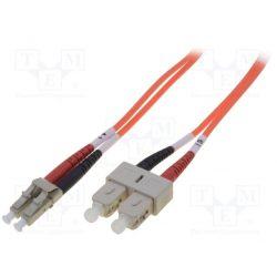Digitus DK-2531-01 optikai LC-ST 50/125 1m kábel