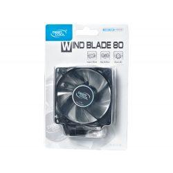 DeepCool Wind Blade 80 8 cm-es ház ventilátor kék LED-del