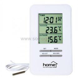 Home HC12 vezetékes külső-belső hőmérő órával