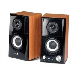 Genius HF500A 2.0 barna fadobozos 14W hangszóró