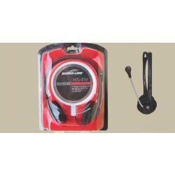 SilverLine HS-11V Fejhallgató+mikrofon