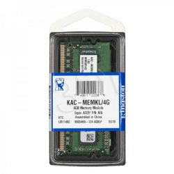 Kingston KAC-MEMKL/4G 4GB 1600MHz DDR3L ACER notebook memória