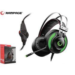 Rampage Miracle-X3 Green 7.1 gamer fejhallgató