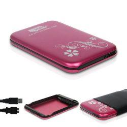 """M-Tech MT-2536 2,5"""" HDD USB2.0 külső ház (lila)"""