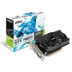 MSI 750GTX Ti 2GB  GDDR5 PCI-Ex grafikus kártya