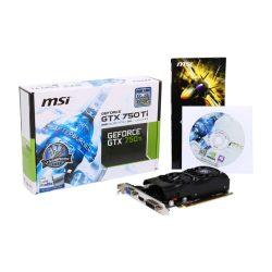 MSI N750Ti-2GD5TLP nVidia GTX750 Ti 2GB GDDR5 PCI-Ex grafikus kártya