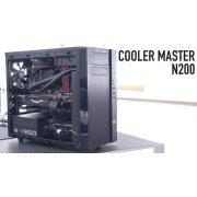 CoolerMaster N200 Minitower ház tápegység nélkül