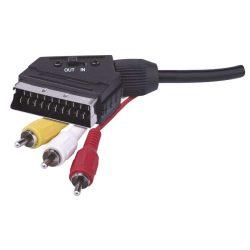 Emos Scart - 3RCA kábel kapcsolóval, 1,5m