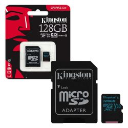 Kingston 128GB microSD Canvas GO memóriakártya+adapter