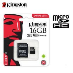 Kingston 16Gb micro sd+adapter Canvas Select class 10