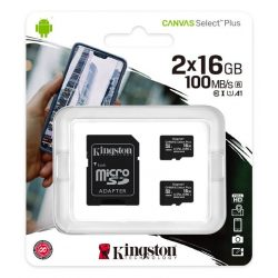 Kingston 16GB microSD+adapter Canvas Select Plus memóriakártya