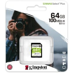 Kingston 64GB microSD+adapter Canvas Select Plus memóriakártya