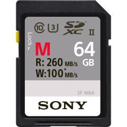 Sony SF-M64/T 64GB SDXC UHS-II class10 U3 memória kártya (260/100MB/s)