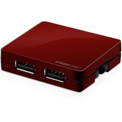 Speedlink SL-7414-PWT SNAPPY 4 portos USB hub (piros)