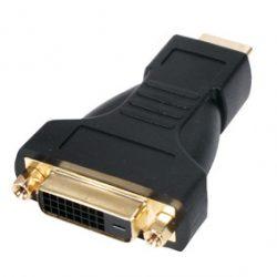 HDMI dugó - DVI alj adapter aranyozott