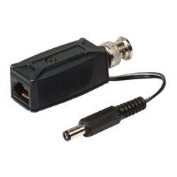 SC&T transceiver video+táp dugó, BNC alj -> Cat5 RJ45