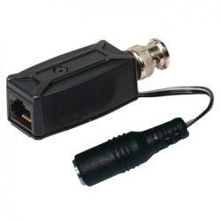 SC&T transceiver video+táp alj, BNC alj -> Cat5 RJ45