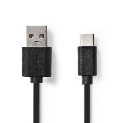 ValueLine VLCP60600B20 USB-C dugó - USB-A dugó 2.0 kábel, 2m