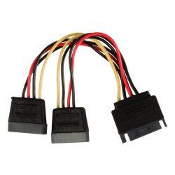 ValueLine VLCP73190V015 SATA-SATA Y tápkábel