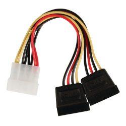 Valueline VLCP73520V015 Molex - 2db Sata átalakító kábel 0,15m