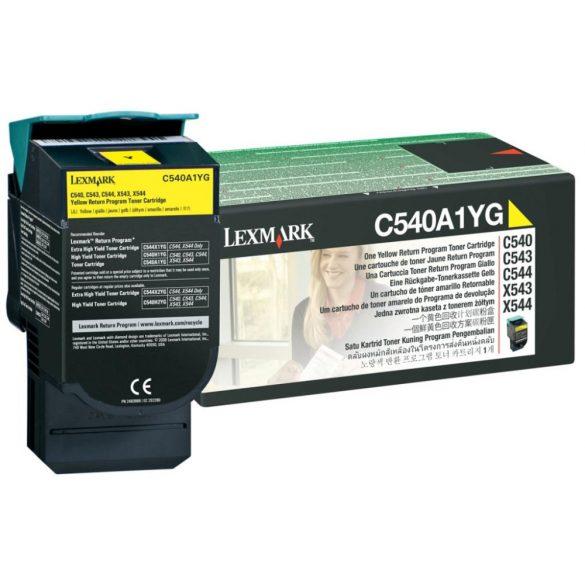 Lexmark C540/C543/C544/CX543/X544 sárga toner