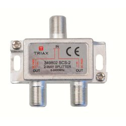 Triax 349802 SCS-2 2 utas antenna elosztó, DC pass, 5-2.400 Mhz