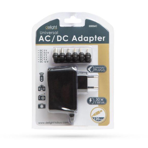 DeLight univerzális hálózati adapter 3-12V, 2,5A, 30W