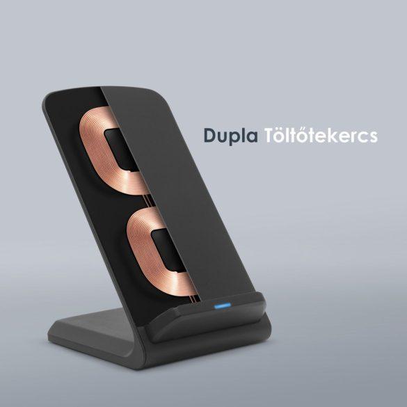 Delight 55161BK vezeték nélküli asztali töltőállomás, fekete, 1,2A